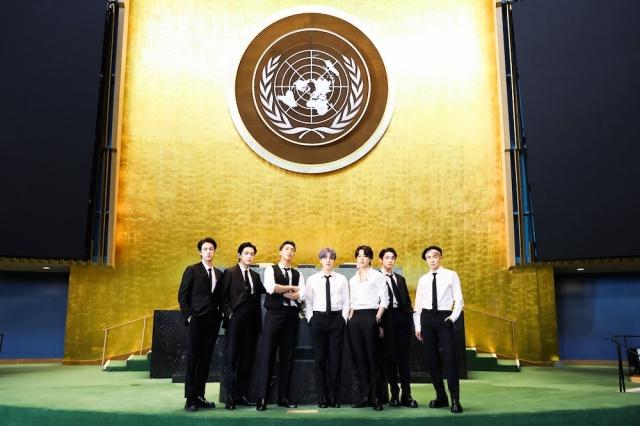 『第76回国連総会』に特別使節として出席したBTS (C)(P)&(C)BIGHIT MUSICの画像