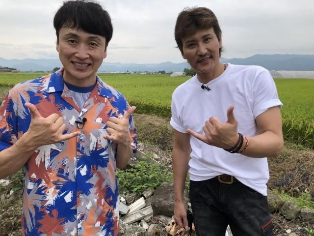 22日放送『笑ってコラえて!』に出演するアンジャッシュの児嶋一哉と新庄剛志 (C)日本テレビの画像