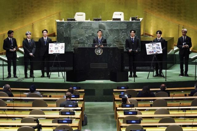 『第76回国連総会』に特別使節として出席したBTS (P)&(C)BIGHIT MUSICの画像
