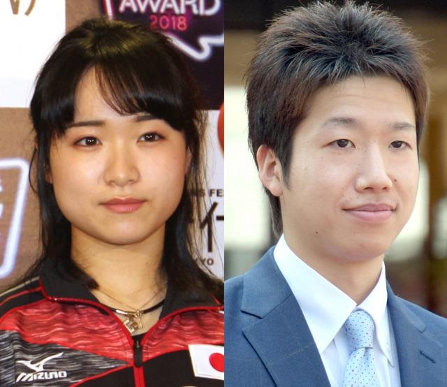 『東京2020オリンピックに出場した日本人アスリートのTV話題ランキング』1位&2位に輝いた(左から)伊藤美誠選手、水谷隼選手 (C)ORICON NewS inc.の画像