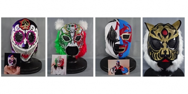 全国3会場のイオンで開催される『みんなのプロレスマーケット~初代タイガーマスク40th Anniversary~』。人気プロレスラーのマスクも展示・販売の画像
