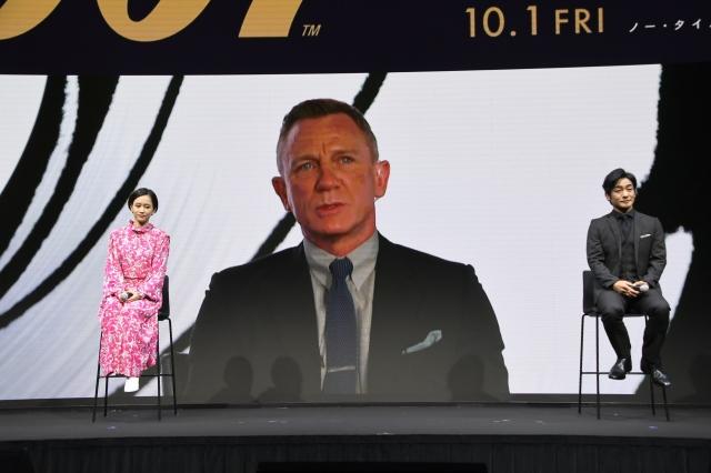 ロンドンからダニエル・グレイグが中継で登場=映画『007/ノー・タイム・トゥ・ダイ』(10月1日公開)(C)Danjaq, LLC and Metro-Goldwyn-Mayer Studios Inc.All Rights Reserved.の画像