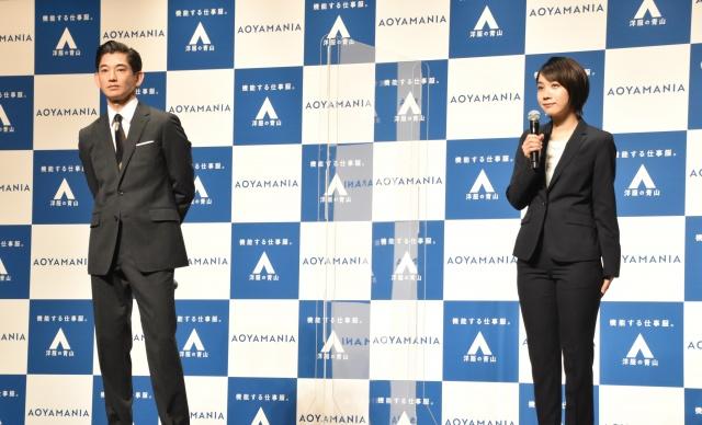CMで初共演した(左から)永山瑛太、松本穂香(C)ORICON NewS inc.の画像