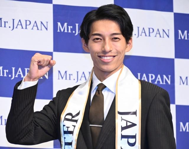 『2021ミスター・ジャパン』グランプリに選出された福岡県代表・森大空さん(C)ORICON NewS inc.の画像