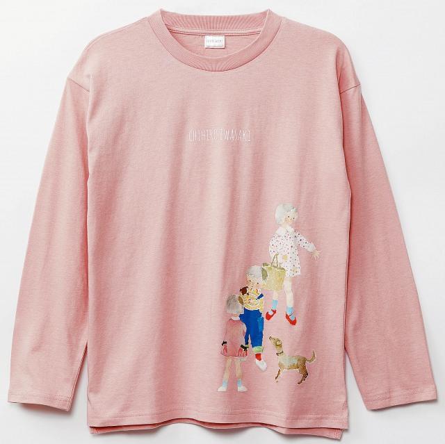 「いわさきちひろコラボ長袖Tシャツ」(税込価格 2068円)の画像