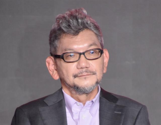 『シン・仮面ライダー』登場怪人について話す庵野秀明氏 (C)ORICON NewS inc.の画像