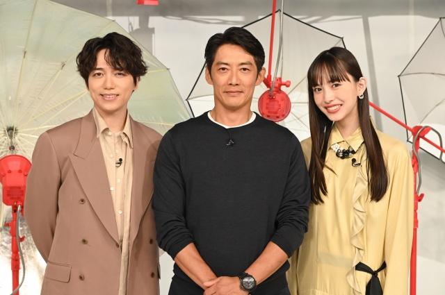 新番組『おしゃれクリップ』に出演する(左から)山崎育三郎、反町隆史、井桁弘恵 (C)日本テレビの画像