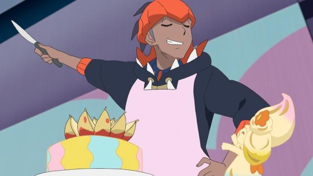 アニメ「ポケットモンスター」第82話に登場したキバナ(C)Nintendo・Creatures・GAME FREAK・TV Tokyo・ShoPro・JR Kikaku (C)Pokemonの画像