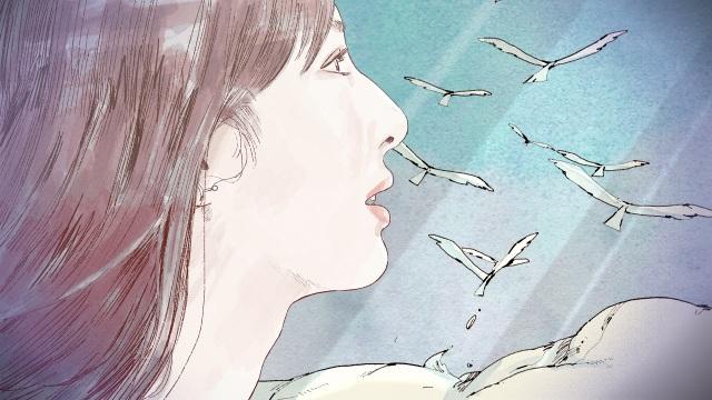 『シチズンクロスシー』新CM「CITIZEN xC 2021AW サン&ムーン篇」よりアニメーションで描かれた北川景子の画像