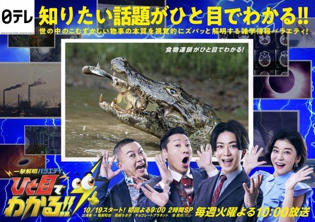 19日スタート『一撃解明バラエティ ひと目でわかる!!』ポスタービジュアル (C)日本テレビの画像