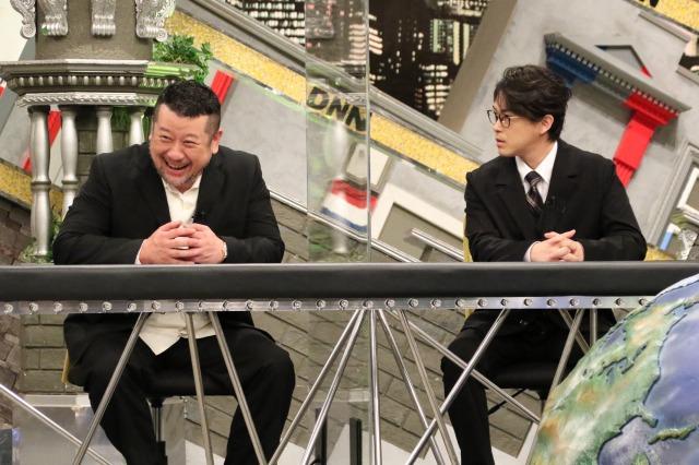8日放送『全力!脱力タイムズ』に出演する(左から)ケンドーコバヤシ、勝地涼(C)フジテレビの画像