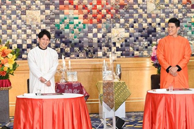 7日放送の『ぐるぐるナインティナイン2時間SP』に出演する(左から)岡田准一、鈴木亮平(C)日本テレビの画像