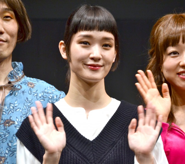 女子高生役を演じる剛力彩芽 (C)ORICON NewS inc.の画像