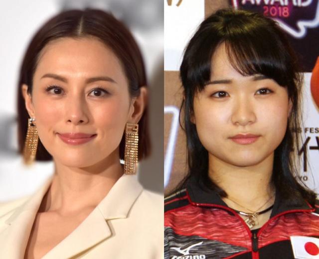(左から)米倉涼子、伊藤美誠選手(C)ORICON NewS inc.の画像