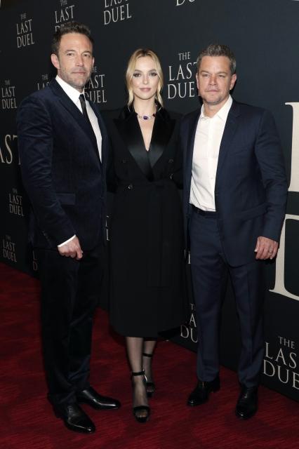 ベン・アフレック、ジョディ・カマー、マット・デイモン=映画『最後の決闘裁判』(10月15日公開)ニューヨークプレミアにての画像