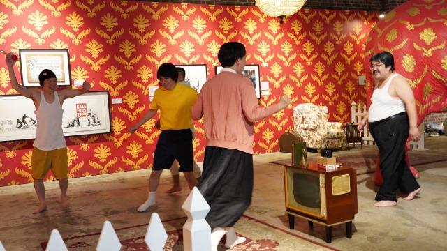 13日放送『有吉の壁』では『キングオブコント2021』優勝の空気階段はジェラードンとコラボで家族になりきる (C)日本テレビの画像