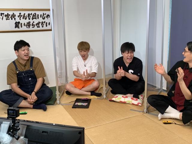 16日放送『カラシコンボ』に出演する(左から)伊織、杉本青空、下田真生、九条ジョー(C)熊本朝日放送の画像