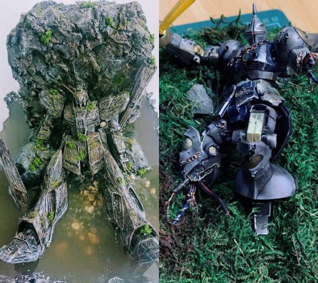 (写真左)制作・画像提供/のうちの模型部屋氏 (写真右)制作・画像提供/林氏 (C)創通・サンライズの画像