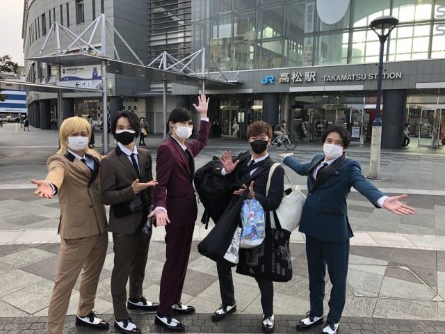 『ABC座ジャニーズ伝説2021 at Imperial Theatre』製作発表後高松駅に到着したA.B.C-Zの画像