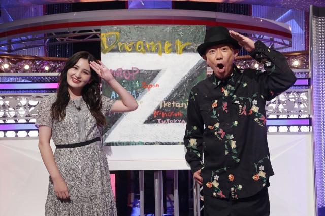 『~夢のオーディションバラエティー~ Dreamer Z』に出演する(左から)池谷実悠アナ、木梨憲武(C)テレビ東京の画像