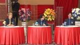 新シリーズ『ゴチ22!』初戦から新メンバーが大活躍 松下洸平(中央)は増田貴久(左)と美声披露(C)日本テレビの画像