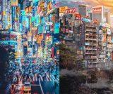 """「まるでブレードランナー」「別世界のアキバ」廃墟と都市が混在したアート写真、表現される""""妙な現実感""""に驚きの声"""