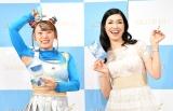 仲良しエピソードを披露したフワちゃん&アンミカ (C)ORICON NewS inc.の画像