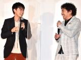 『おちょやん』のエピソードを語り合った(左から)成田凌、トータス松本 (C)ORICON NewS inc.の画像
