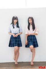 『BOMB』7月号に登場するNMB48(左から)梅山恋和、塩月希依音の画像