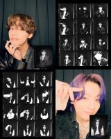 BTSのV(上段)とJUNG KOOK(下段)がフォトブースで撮ったセルフ写真撮影映像公開(C)BIGHIT MUSICの画像