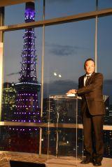 美空ひばりさんの33回忌で東京タワーが紫色に 加藤和也氏が見守る「とてもキレイ」