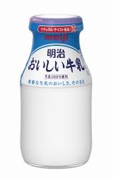 昭和3年から販売されている明治の瓶牛乳の画像