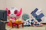 東京五輪開会式で出なかったミライトワとソメイティの様子をプラモデルで表現(すえきちさん作/@suekichiii)の画像