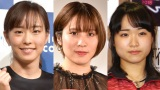 (左から)石川佳純、平野美宇、伊藤美誠 (C)ORICON NewS inc.の画像
