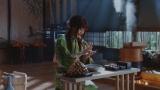 au三太郎シリーズ最新作TVCM「新しいきびだんご」篇に出演する有村架純の画像