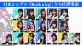 バトルを経て決定したラストアイドル11thシングル「Break a leg!」立ち位置の画像